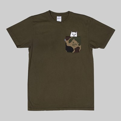 RIP N DIP LORD NERMAL CAMO POCKET TEE ARMY CAMO